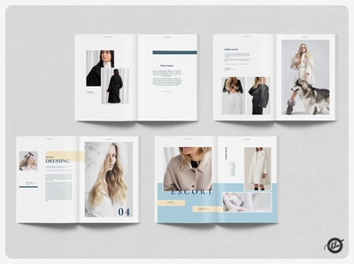 FEMME Fashion Lookbook lifestyle coat jacket winter catalog magazine lookbook fashion indesign layout editorial a4 size template design print design layout design templates modern minimalist