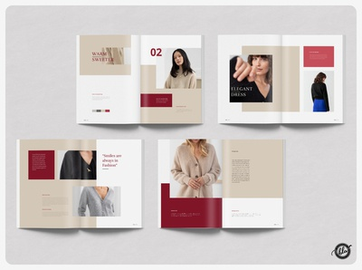 KRISTIN Winter Lookbook wearing coating clothing woman lifestyle winter catalog lookbook magazine indesign template indesign layout editorial a4 size template design print design layout design templates modern minimalist