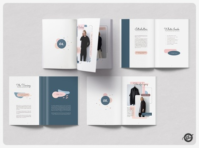 KENTONE Editorial Magazine editorial minimal catalogue design catalog usletter colorful lookbook magazine feminine indesign template a4 size indesign template design print design layout design templates minimalist