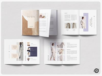 SUITPEA Fashion Magazine & Lookbook book simple professional fashion feminine minimal us letter indesign template layout indesign editorial a4 size template design print design modern layout design templates minimalist