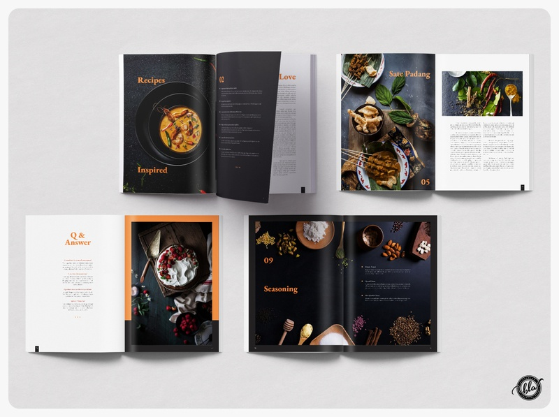 LECKERY Food Magazine & Cookbook recipes catalog cafe restaurant chef photographer food cookbook lookbook magazine photography indesign editorial a4 size template design print design modern layout design templates minimalist