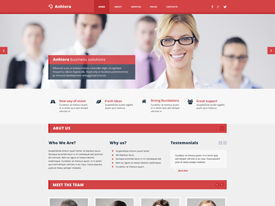 Anhiora – single page template (Free PSD) resources web design webdesign website free freebie photoshop fireworks flat freebies