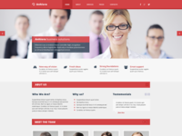 Anhiora – single page template (Free PSD)