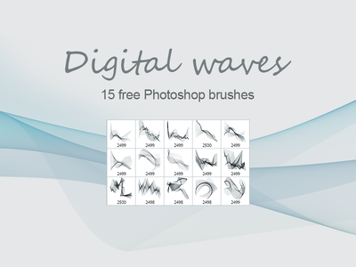 Digital Waves - Free PS brushes free freebie photoshop resources brush freebies