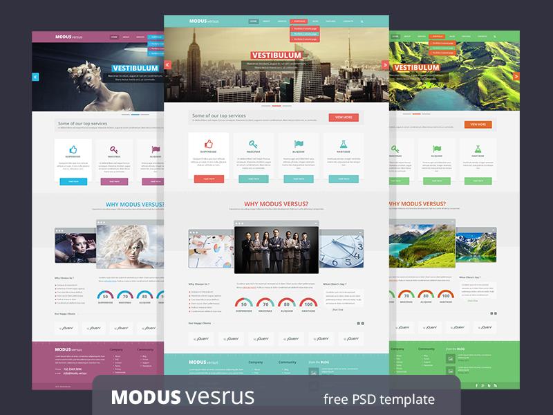Modus Versus - free PSD template by Dimitar Tsankov - Dribbble