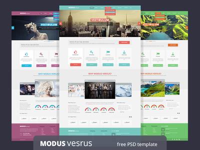 Modus Versus - free  PSD template