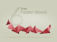 Free vector Folded ribbons