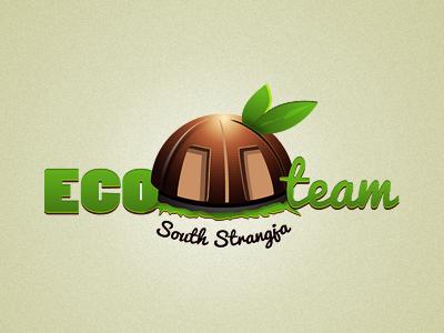 Ecoteam eco green logo brown leaf house