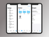 Administration of digital receipts for IOS