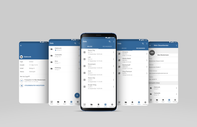 Administration of digital Receipts for Android android app administration ux ui ui ux design app