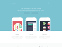 Full homepage view - Cayse landing theme