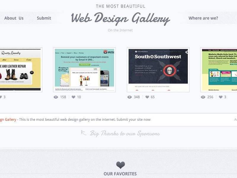 Freebie - Web Design Gallery PSD mockup free psd freebie
