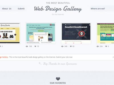 Freebie - Web Design Gallery PSD