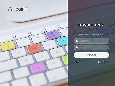 Login Screen keyboard website login