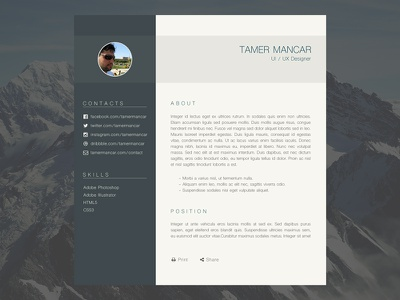User Profile Page clean design page profile user