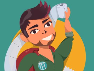 Inner Hero 2020. Illustration for the logo