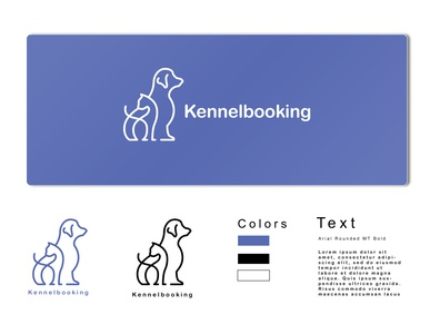 LOGO_Kennelbooking the Pet's hotel project illustrator design branding typography logo illustration graphic  design