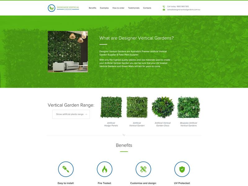 Designer Vertical Gardens banner ads graphic  design icon ui web design web design logo illustration branding