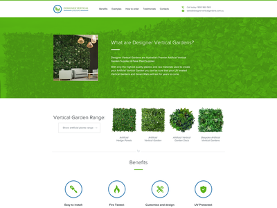 Designer Vertical Gardens banner ads graphic  design icon ui web design web design logo illustration branding