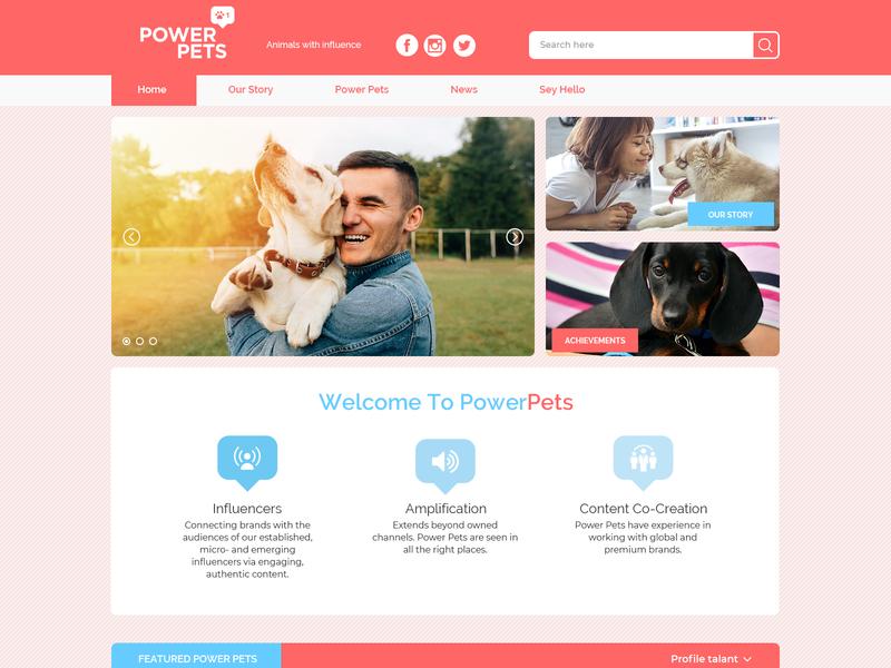 PowerPet landing page vector banner ads design logo web design ui web design illustration branding graphic  design