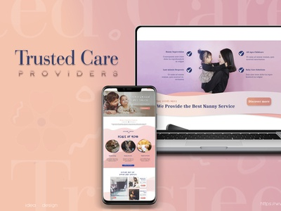 Child Care servise web and Apps design