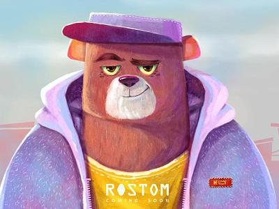 Rostom humane art direction digital painting animal furry bear concept art character character design illustration