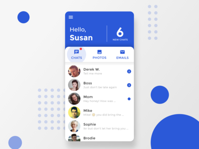 Email / Messenger app design