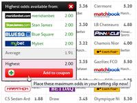 BetBrain – Adding A Bet To Betting Slip