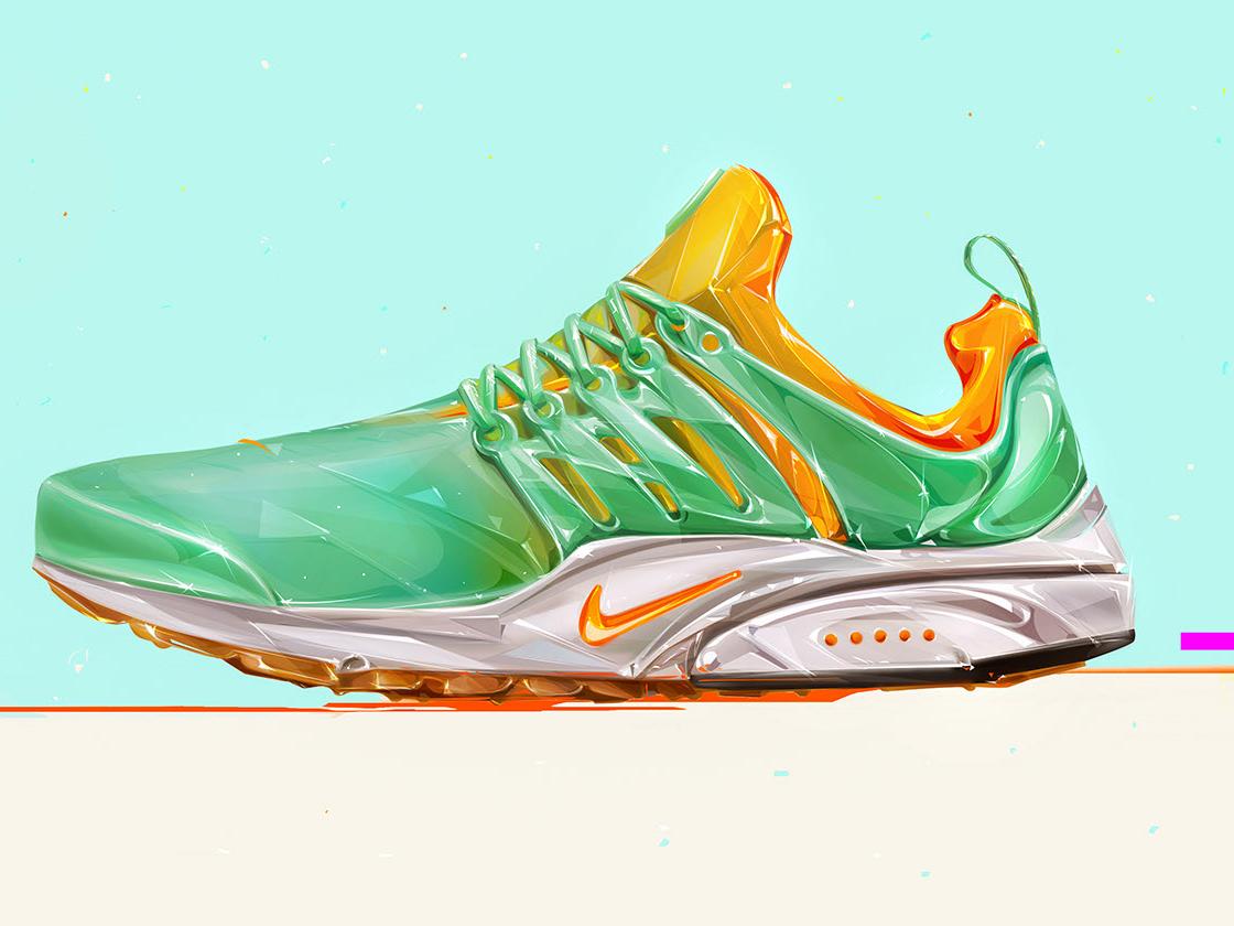 Sneakers Art design shoes graphics illustration cover art
