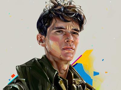 Fionn Whitehead design background illustration portrait oscars