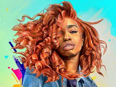 SZA illustration portrait