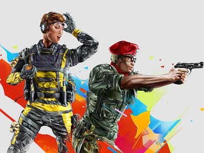 Finka-Alibi r6 illustration visual esports games portrait ubisoft