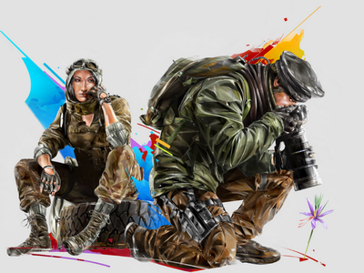 Nomad-Maverick poster print esports games illustration portrait ubisoft art