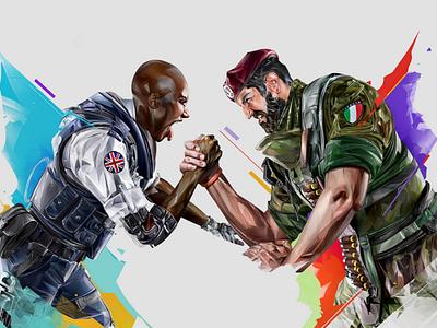 Clash-Maestro design esport ubisoft illustration portrait games