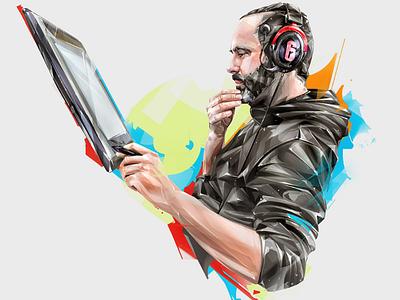VIVIAN ROCRAY art design games ubisoft esports portrait illustration