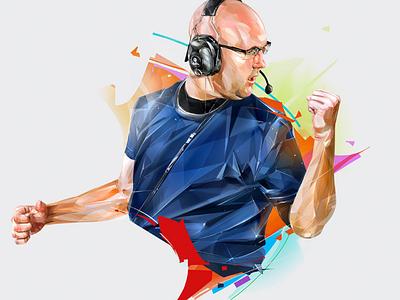 "BRANDON ""BC"" CARR ubisoft esports games poster design portrait art illustration"