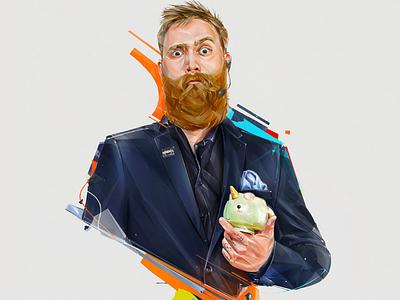 """ALEX """"Z1RONIC"""" DALGAARD-HANSEN background design espors ubisoft games portrait illustration"""