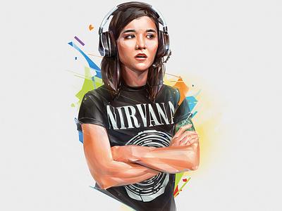 ANNEMUNITION cover print poster esports design art illustration portrait