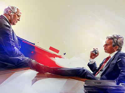 VICE background illustration design portrait