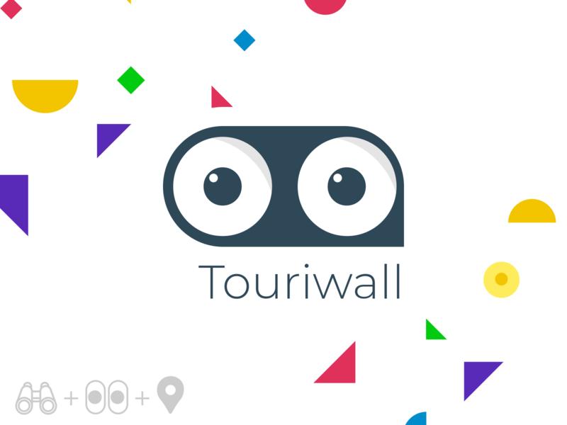 Touriwall Logo ui branding colorful identity logo