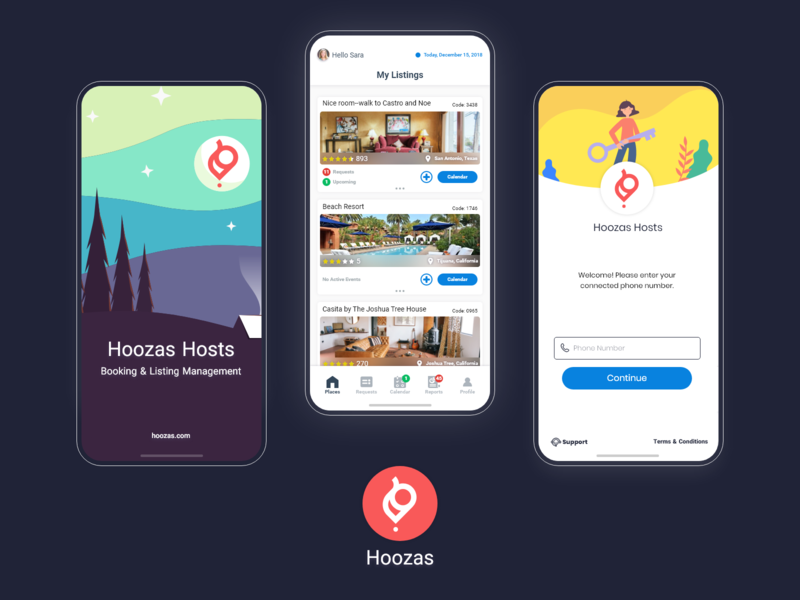 Booking & Listing Management App ui designs travel webdesign pwa ui designer listing ui ui design