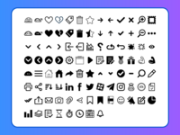 Monta Font Icons