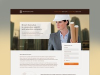 Brown Executive Wordpress Website