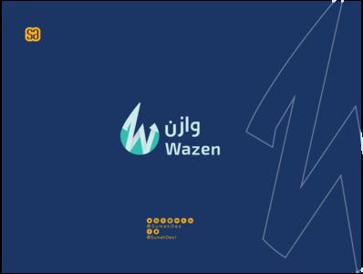 Wazen Company Logo minimalist logo monogram company logo art smart branding identity logo idea creative design