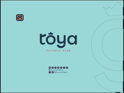 TOYA Company SMART LOGO company logo art logo idea creative design calligraphy typography smart branding identity