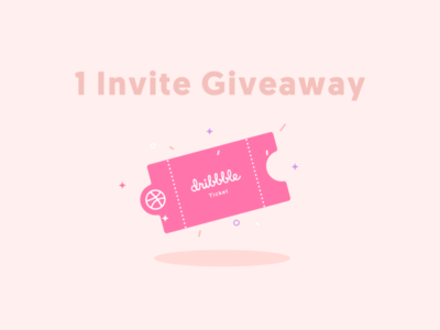 1 Dribbble Invite Giveaway🤩.
