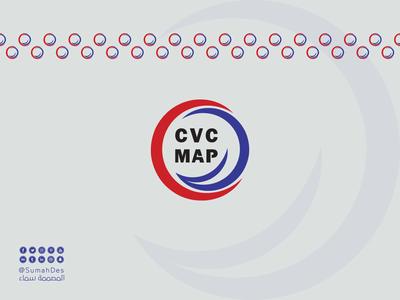 CVC MAP French Company SMART LOGO concept calligraphy typography branding identity creative idea design illustraion vector icon lettermark monogram company logo logotype logo smart french company cvc