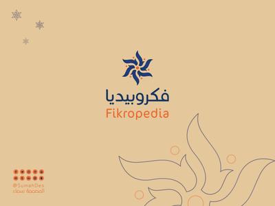 Fikropedia Company LOGO luxury brand mark branding website lettermark identity smart art icon vector idea creative logo illustraion mascot custom design brand company logo fikropedia