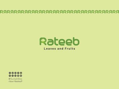 Rateeb Shop SMART LOGO logo design logotype fruit vector idea branding art lettermark leaf luxury creative identity calligraphy typography brand shopping shop logo smart design