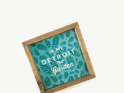 In my Detroit garden print illustration vector